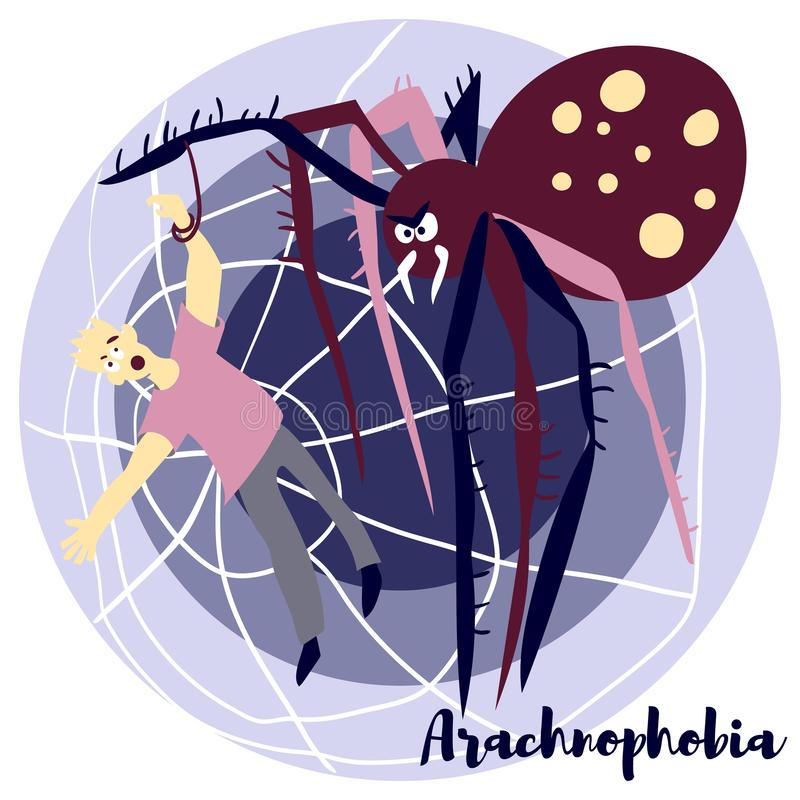 Arachnohobia vector illustratie