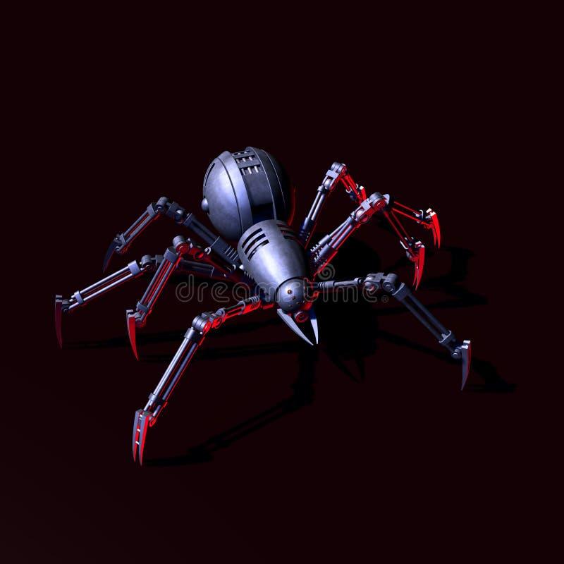 arachnophobia φουτουριστικό διανυσματική απεικόνιση