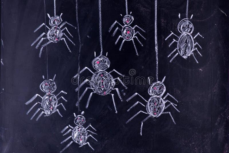 Arachnophobia: Furcht vor Spinnen stockbilder