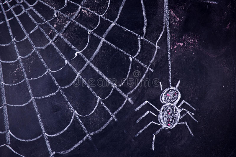 Arachnophobia: Skräck av spindlar royaltyfria foton