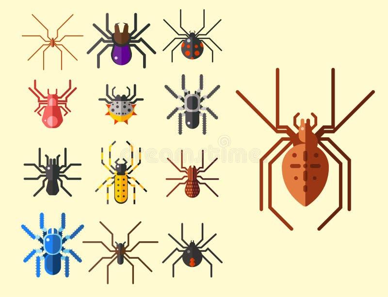 Aracnide della siluetta della ragnatela royalty illustrazione gratis