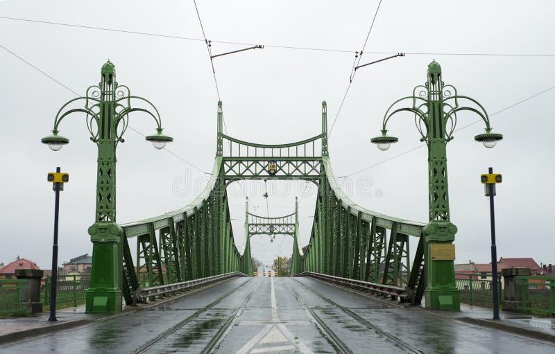 Arad city bridge. Arad city romania traian metal bridge over mures river royalty free stock photos