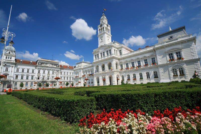 Arad City Hall. Old architecture of Arad City Hall, Romania royalty free stock photos