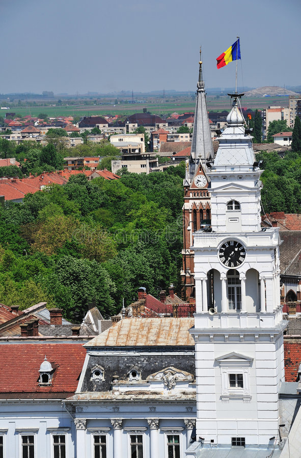 Arad Cityhall. Old architecture of Arad Cityhall, Romania royalty free stock image