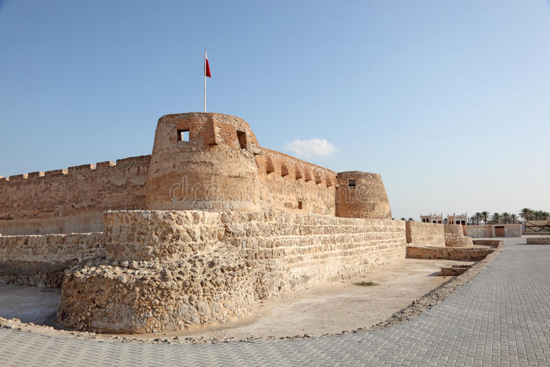 Arad Fort in Muharraq. Bahrain. Historic Arad Fort in Muharraq. Kingdom of Bahrain, Middle East stock images