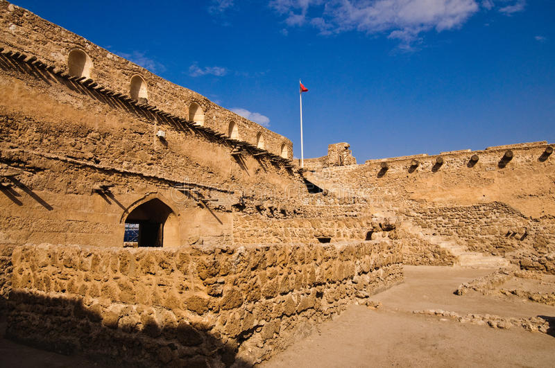 Arad Fort/Qal'at Arad. Arad Fort is a fortified castle built in the style of Islamic Forts at the end of 15th and early 16th centuries. This fort was used as a royalty free stock photos