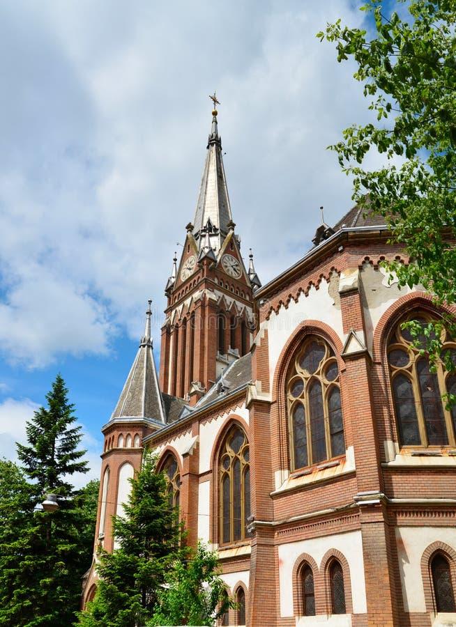Arad red church. Arad city romania red church landmark architecture stock photography