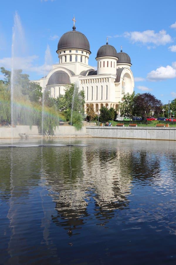 Arad, Romania. Arad, town in Crisana region of Romania. Orthodox cathedral of Holy Trinity stock image