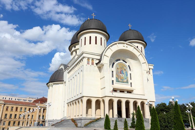 Arad, Romania. Orthodox cathedral of Holy Trinity royalty free stock images