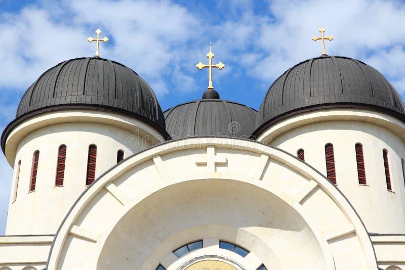 Arad, Romania. Arad, town in Crisana region of Romania. Orthodox cathedral of Holy Trinity royalty free stock image