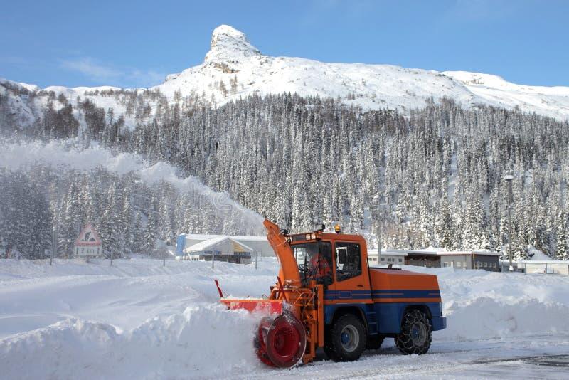 Arado de neve imagem de stock
