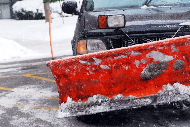Arado de neve foto de stock