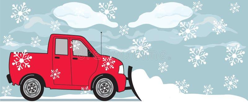 Arado de neve ilustração royalty free