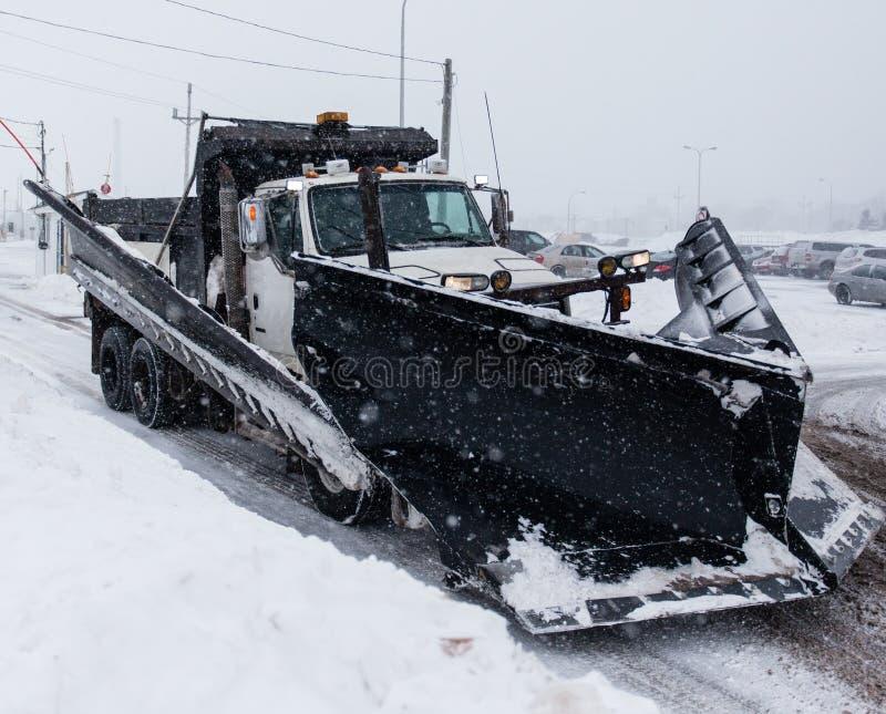 Arado de neve imagens de stock royalty free