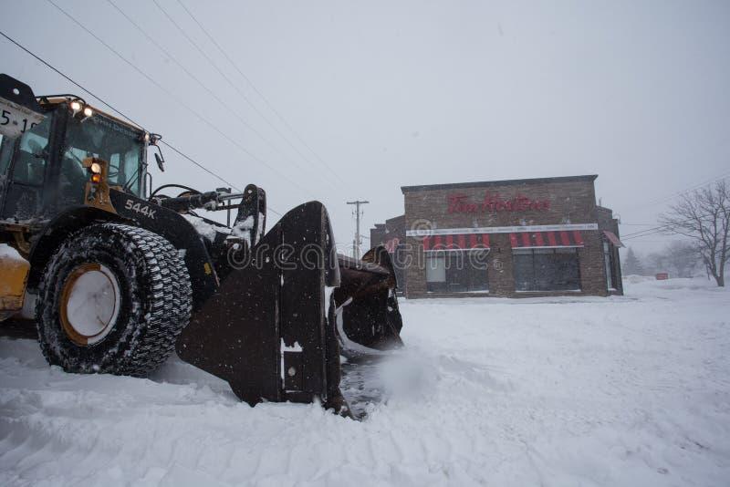 Arado de neve canadense foto de stock
