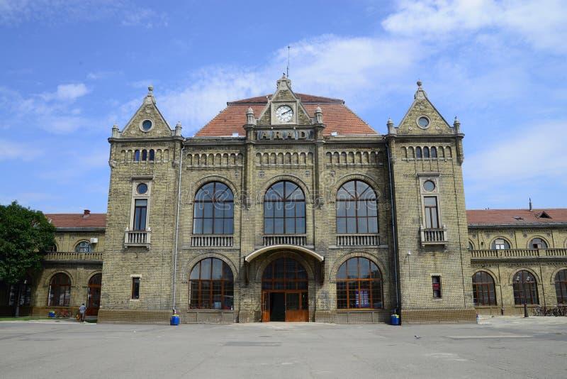 Aradstation stock afbeelding