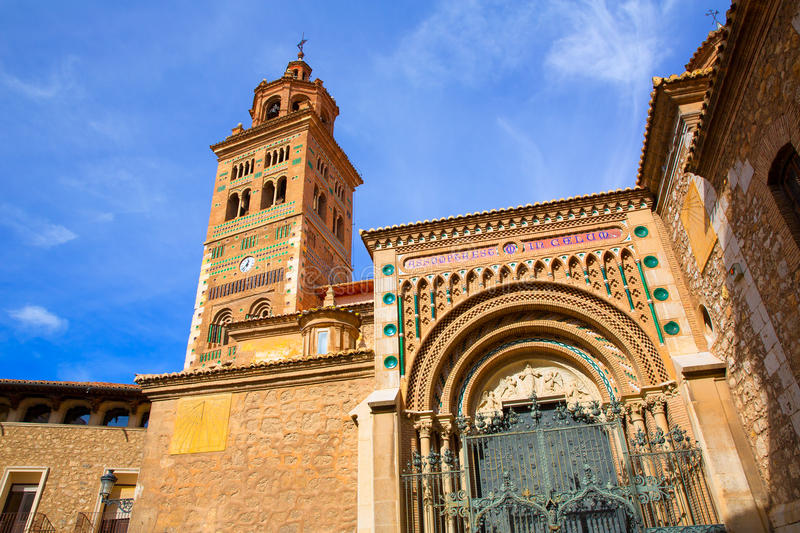 Aragon Teruel Mudejar Cathedral Santa María Mediavilla UNESCO. Heritage in Spain stock photo