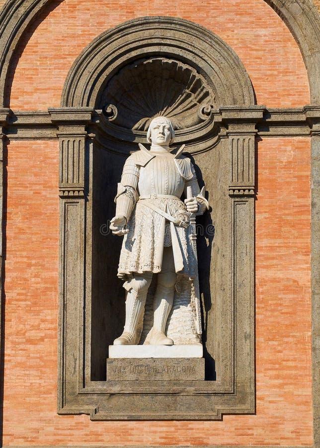 ` Aragona I Naples d'Alfonso V d en Di Napoli, Italie de Palazzo Reale image libre de droits