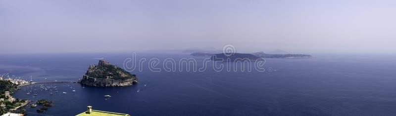 aragonese castello ischia obraz stock