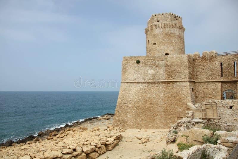 Aragonese slott arkivbild