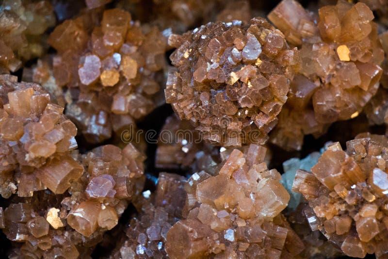 Aragonite矿物宝石作为一个自然岩石 库存图片