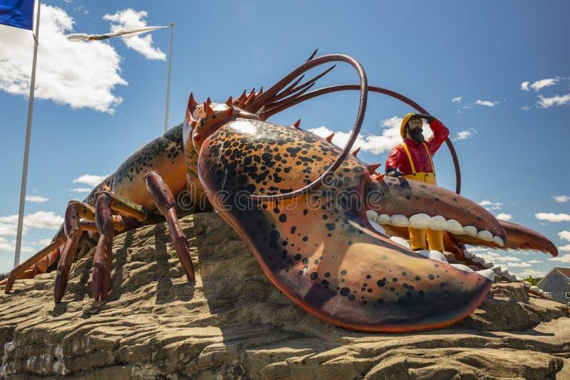 Aragosta del ` s del mondo più grande - Shediac fotografie stock libere da diritti