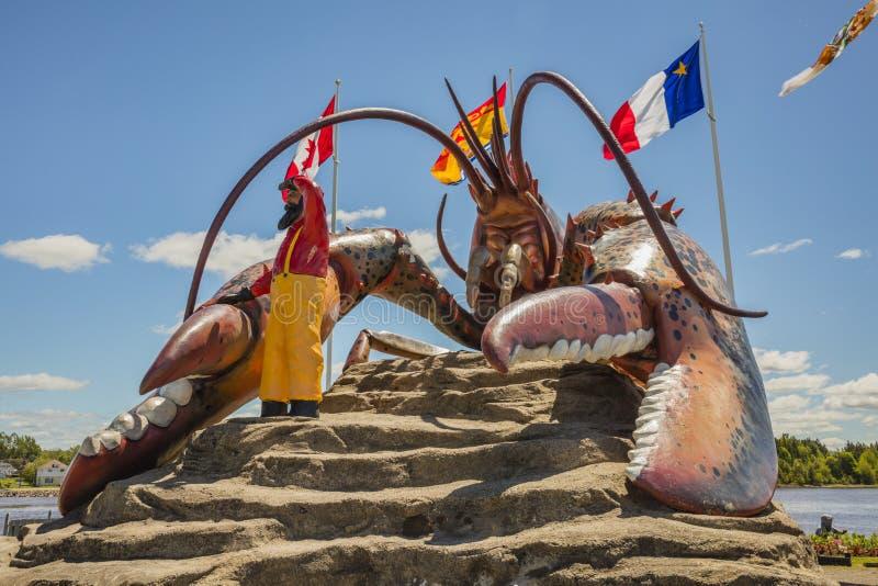 Aragosta del ` s del mondo più grande - Shediac fotografia stock libera da diritti
