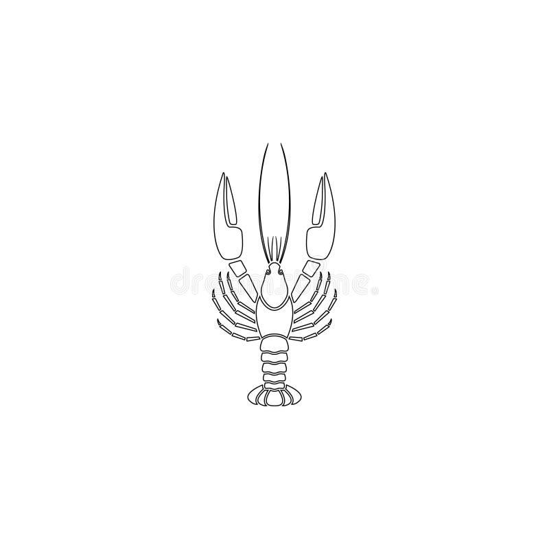Aragosta Icona piana di vettore royalty illustrazione gratis