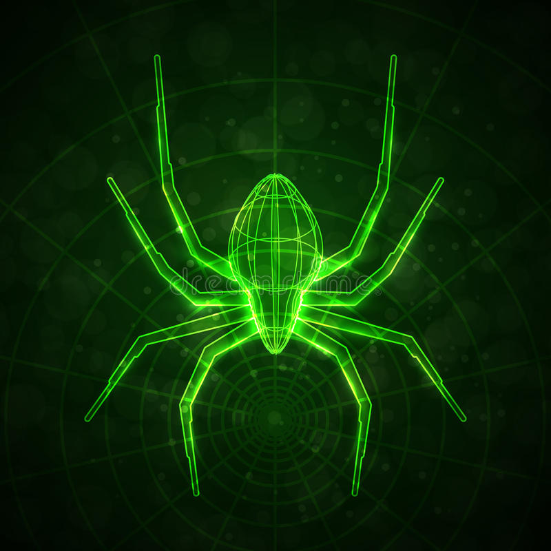 Araignée abstraite illustration stock