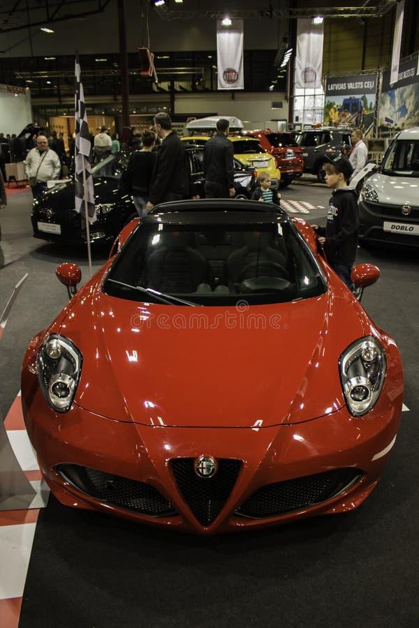 Araignée d'Alfa Romeo 4C images stock