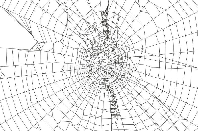 Araignée et toile d'araignée illustration libre de droits