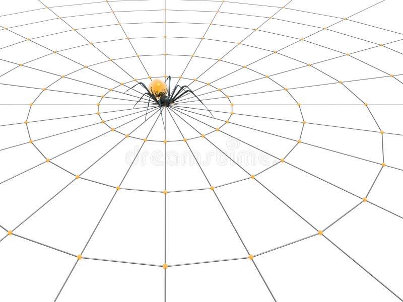 Araignée et Web illustration libre de droits
