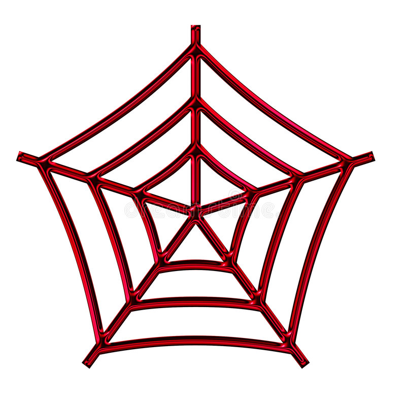 Araignée et Web images stock