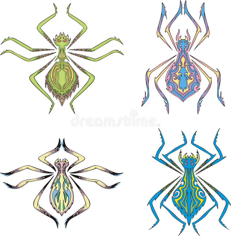 Araignées symétriques illustration stock