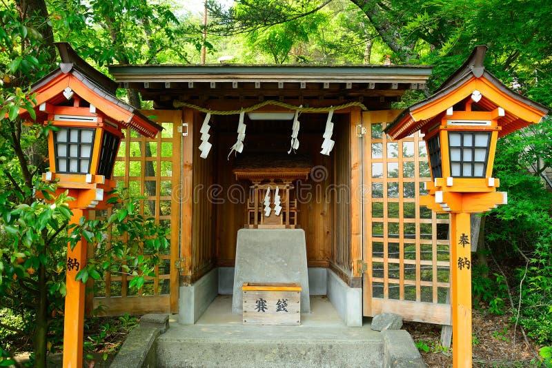 Arakura Sengen Shinto Shrine, Fujiyoshida, Japan stock photos