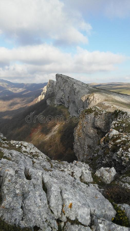Aralar-Berg mögen ein Messer lizenzfreies stockbild