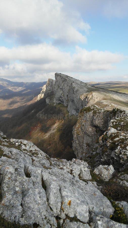 Aralar berg som en kniv royaltyfri bild