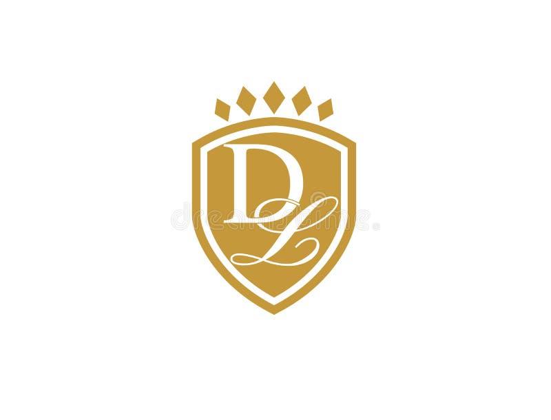Araldic Logo DL editorial photography. Illustration of logo - 96307402