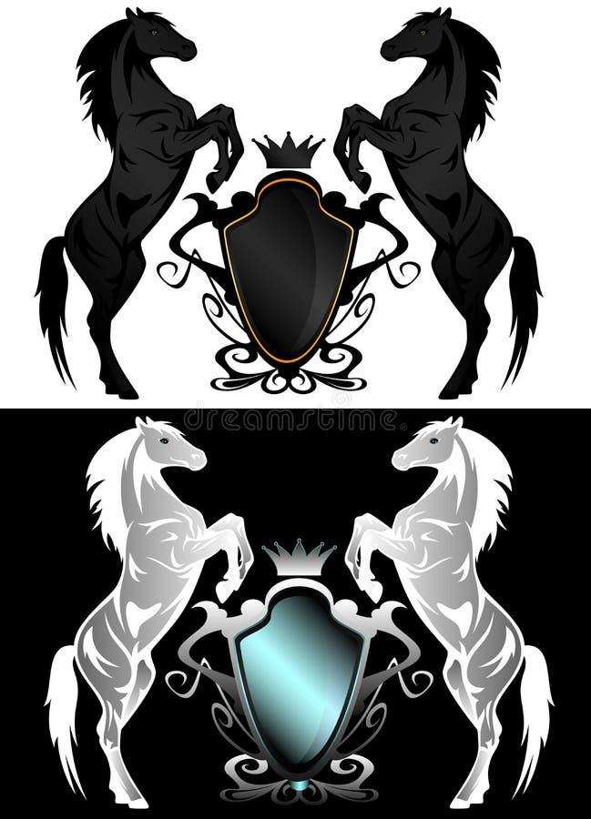 Araldica equestre illustrazione di stock