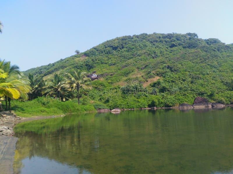Arambol甜点湖 库存图片