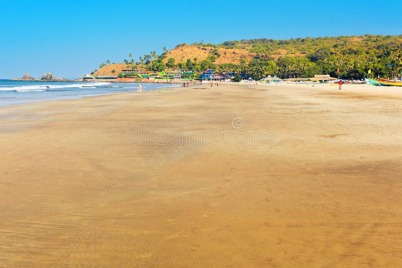 Arambol plaża w Goa obrazy royalty free