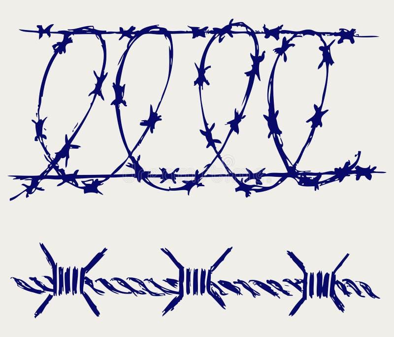 Download Arame farpado ilustração do vetor. Ilustração de acampamento - 26513838