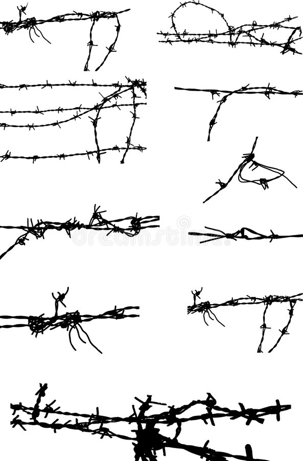 Arame farpado ilustração do vetor