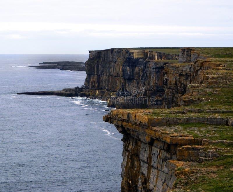 Aran Island. Irish Island Aran, scenic or cliff and rocks stock images