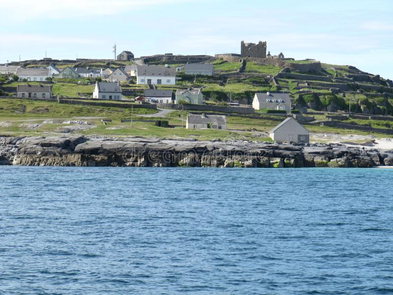 The Aran islands. One of the three small islands called the Aran islands found in Ireland stock images