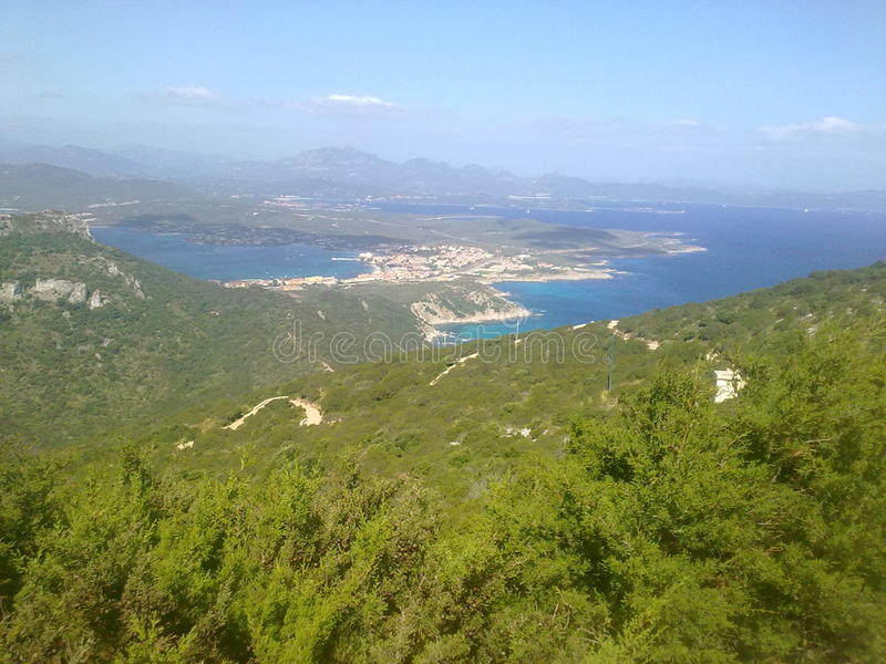 Aranci do golfo da paisagem - Sardegna imagem de stock royalty free