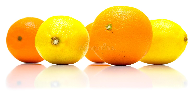 Aranci e limoni fotografia stock