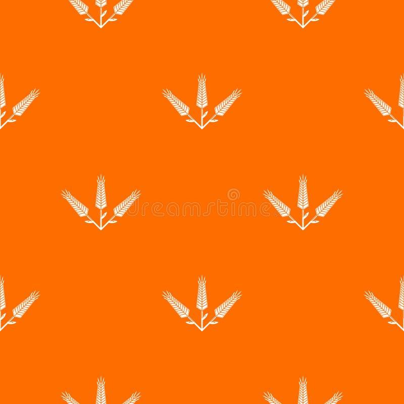 Arancia abbondante di vettore del modello del grano illustrazione vettoriale
