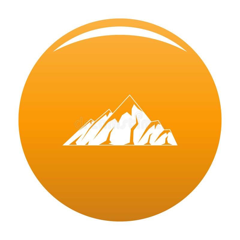 Arancia alpina dell'icona della montagna illustrazione di stock