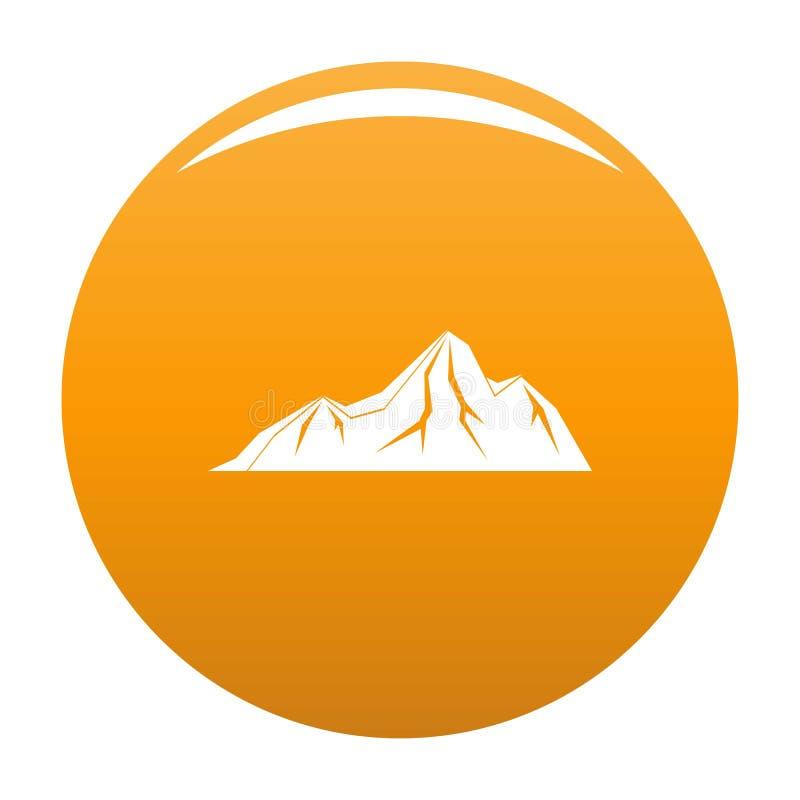 Arancia alta dell'icona della montagna royalty illustrazione gratis